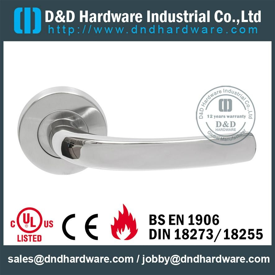 stainless steel door handle fire rated BS EN 1906