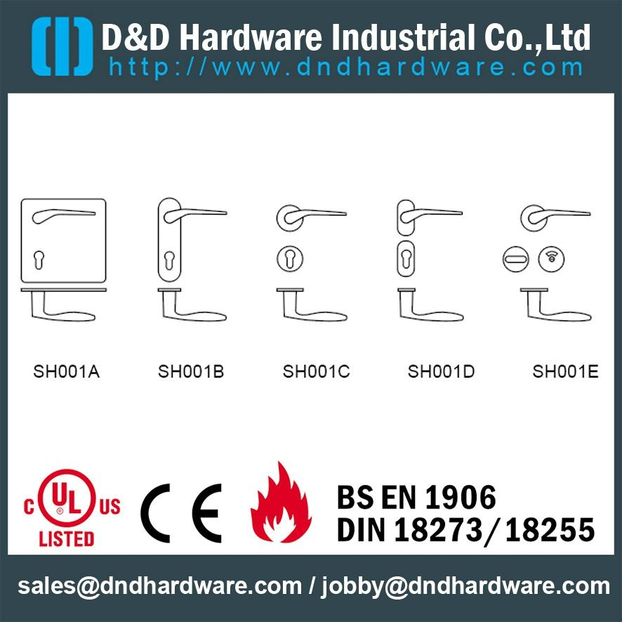 DDSH001-A ss lever solid handle