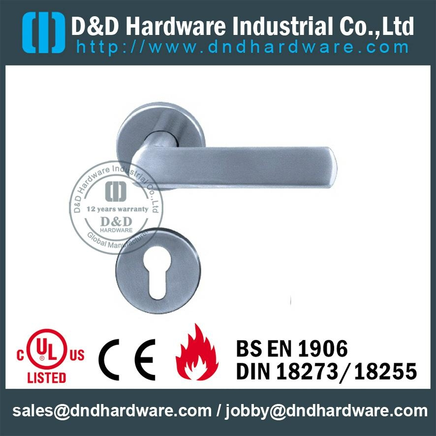 DDSH011 stainless steel fire rated  door handle