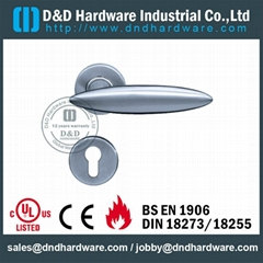 304 stainless steel solid lever door handle UL Listed Certification