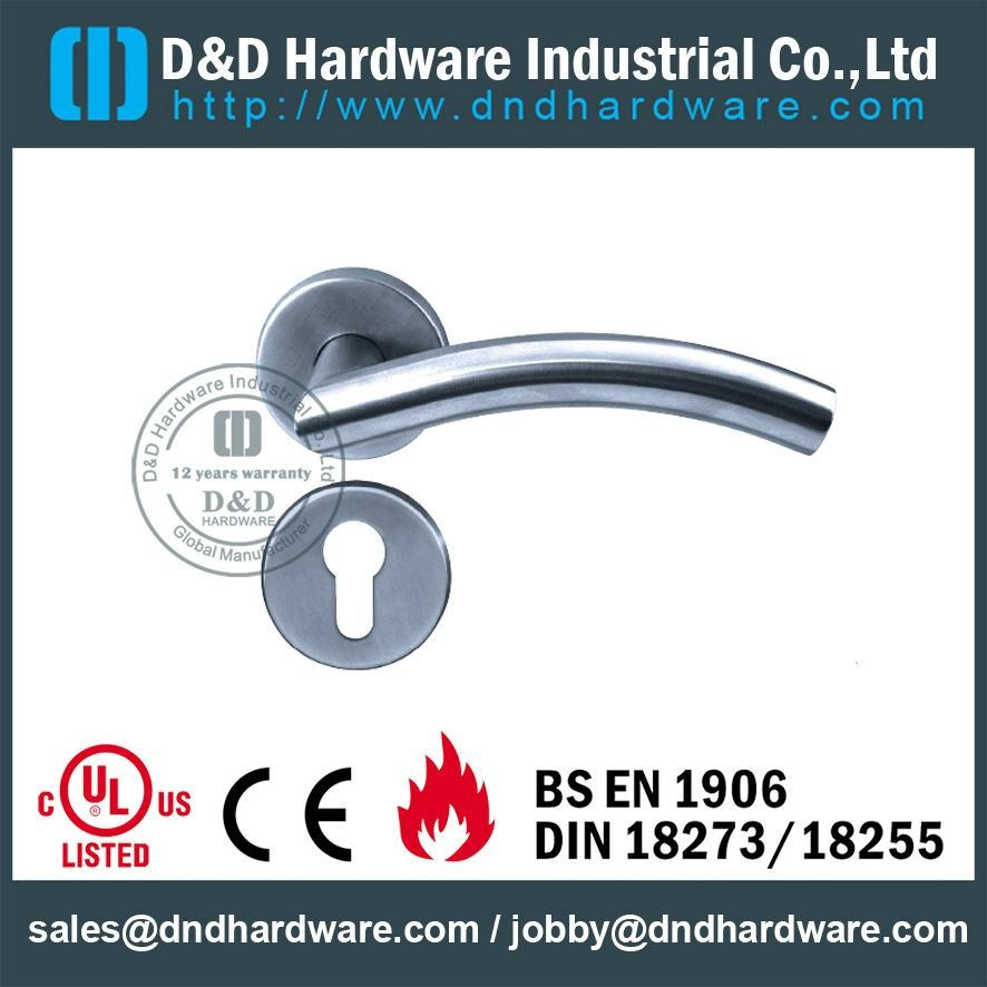 stainless steel lever solid handle UL certificate