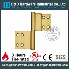 half surface solid brass flag hinge