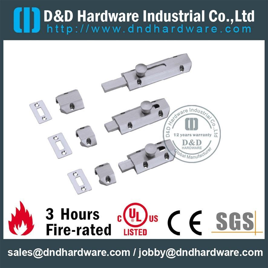 SGS standard brass flat bolt