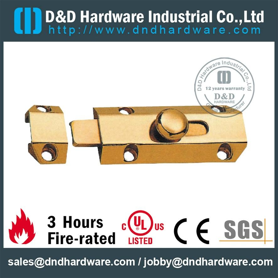 fire-rated brass door bolt