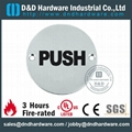 circle PUSH sign plate