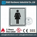 ladies  washrom square type sign plate