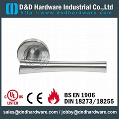 stainless steel door lever handle Dorma handle lock ANSI Standard
