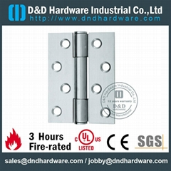 Stainless steel door hinge CE UL listed fire rate NFPA80 certification