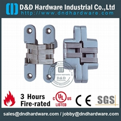 Zinc alloy concealed hinge UL listed fire rate certification R38013