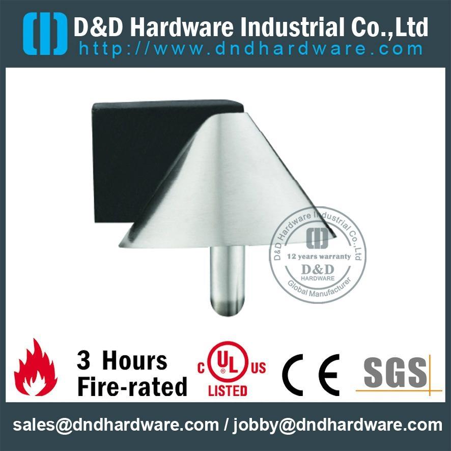 Stainless steel pyramid door stopper