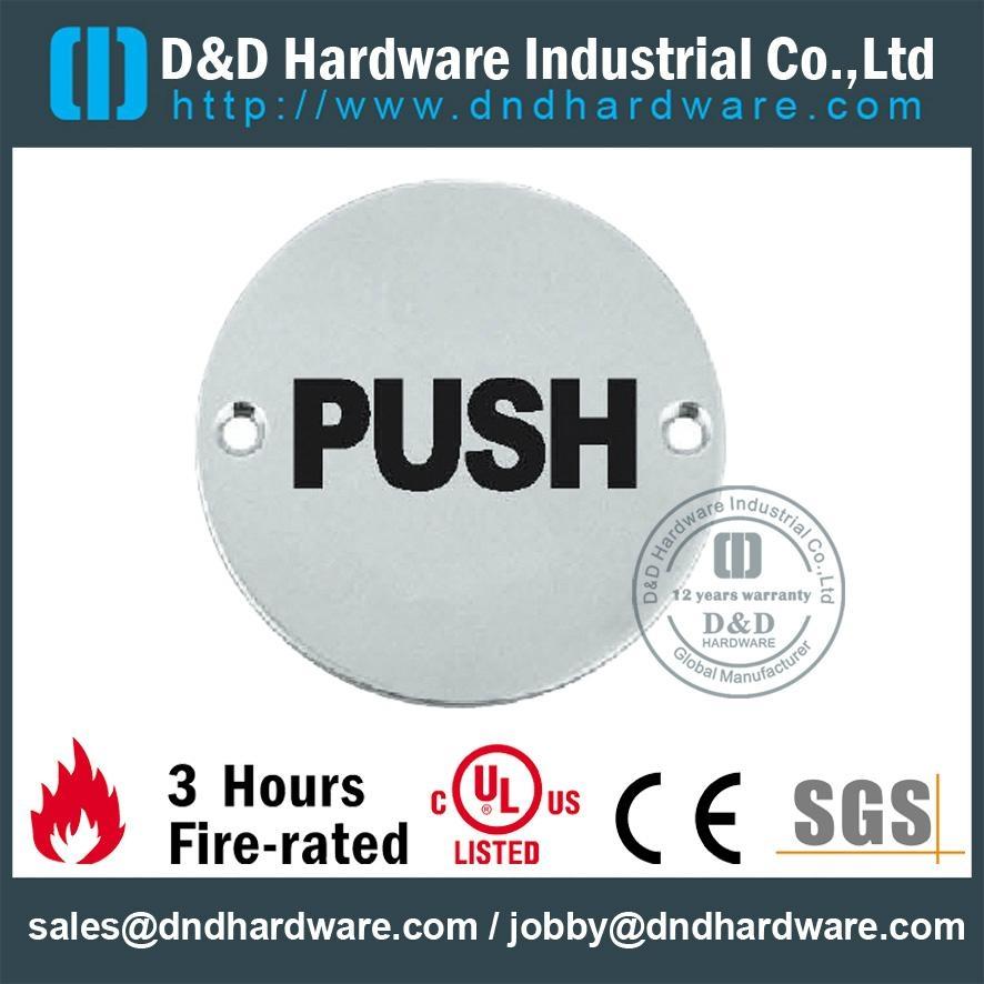 PUSH圓形指示牌