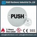 PUSH circular sign plate