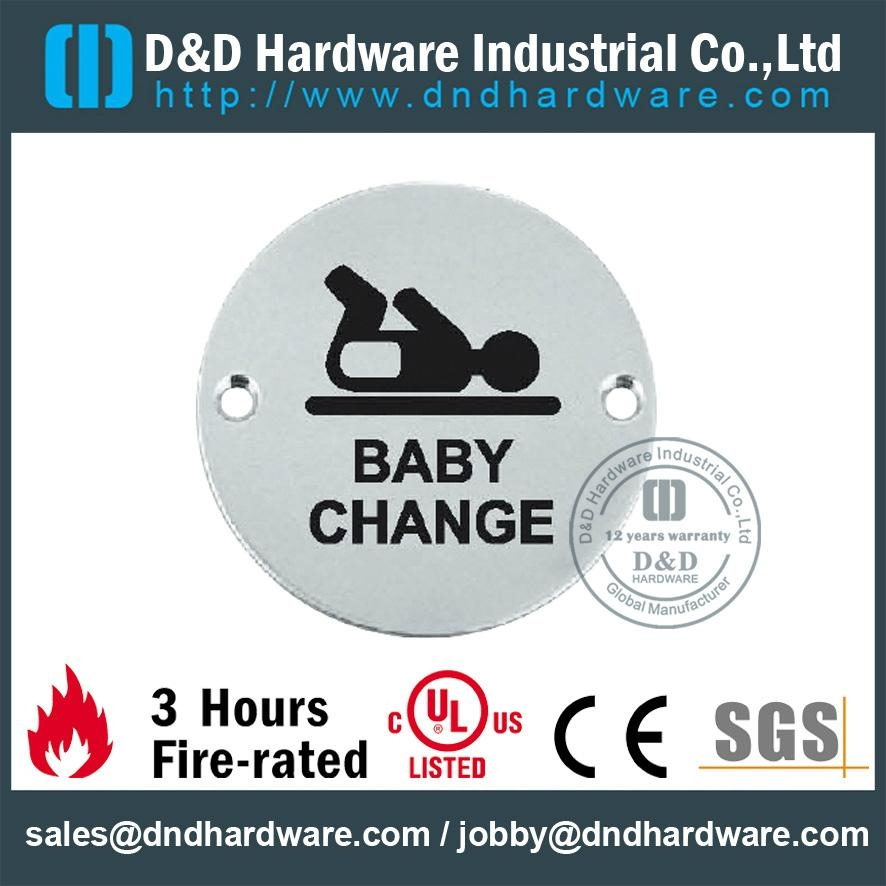 BABABY CHANGE circular sign plate