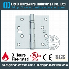 Steel door hinge 4.5inch UL certification file number R38013