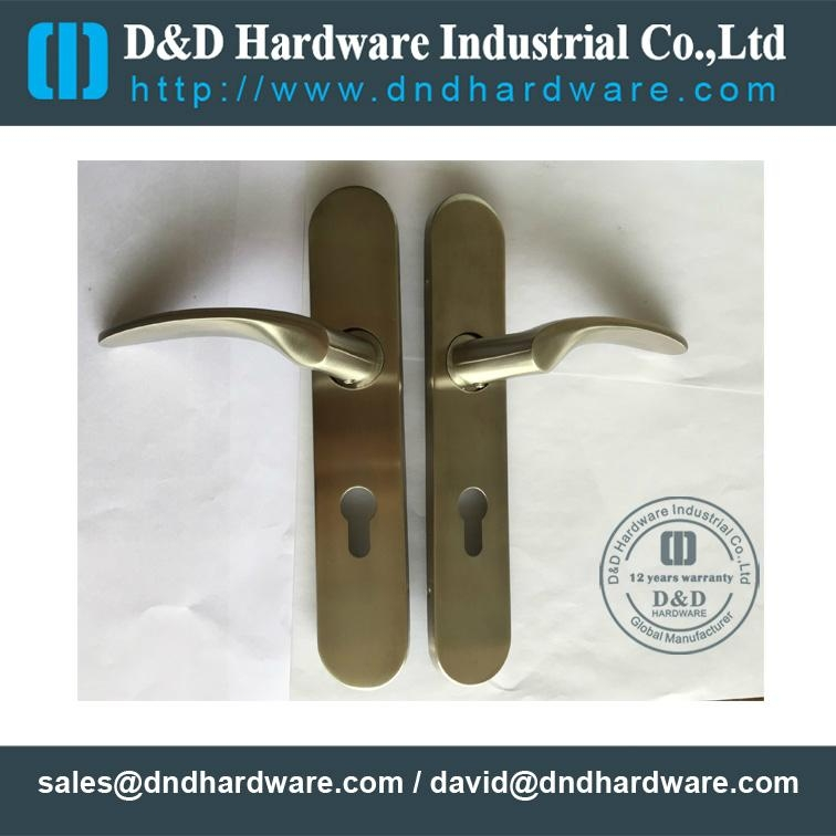 solid lever handle with plate