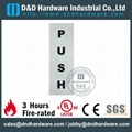 PUSH&PULL sign plate