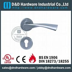 304 stainless steel door handle UL Certificate solid lever handle