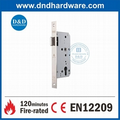 EN12209 CE Certificate Mortise Door Lock fire rated