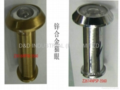 Zinc alloy door viewer