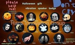 Halloween vibration speaker badge