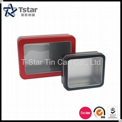 Gift Packaging Tin Box with PVC Window