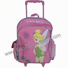 School Trolley Bag with Lovely Printing and Quilter Finishing