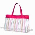 Striped Microfiber with sponge + PVC Beach Bag