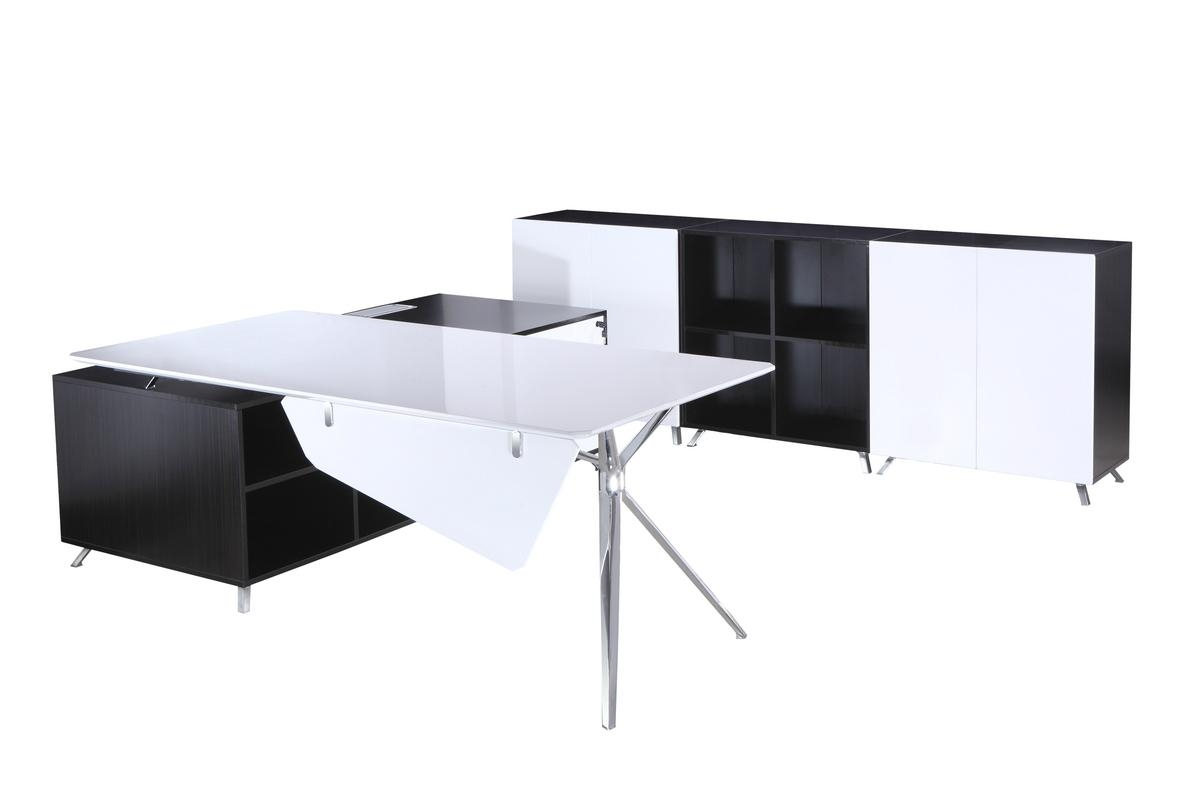 Desk with Side Cabinet 2