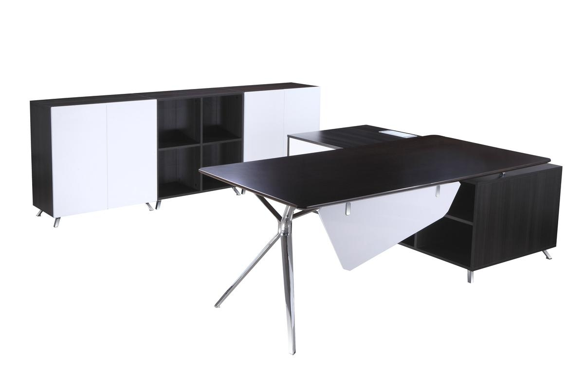 Desk with Side Cabinet 1