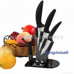 带刀架的厨房陶瓷刀