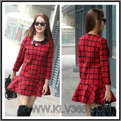 a7463a29ab00f for newest catalog and best price, pls check our wbesite at WWW.KLV365.  Designer women Clothing Lady Plaid Winter Wool Flared Dress Wholesale ...