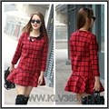Designer women Clothing Lady Plaid