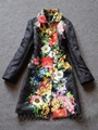 Wholesale Designer Women Clothes Fashion Winter Autumn Embroidred Coat