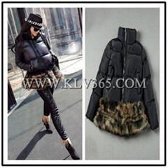 Wholesale Brand Fashion Women Winter Fox Fur Mink Fur Duck Down Short Jacket