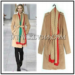 Wholesale Designer Women Fashion Trendy Winter Wool  Long Coat