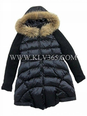 Designer Women fashion Winter Duck Down Coat With Mink Fur Hooded From China