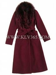 Women's Winter  Fox Fur Long Coat Wholesale