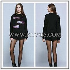 European Style Fashion  Women casual Pants and Blouse Set Wholesale