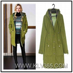 High quality Women Fashion Clothing Winter Long Wool Jacket and Coat Wholesale