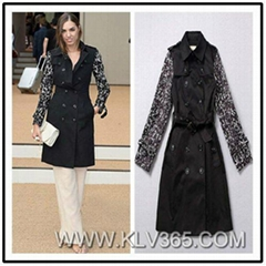 High Quality Women Clothing Designer Fashion Trendy Long Trench Coat Wholesale