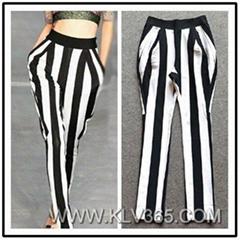 Women Pants Fashion Striped Long Pants for Ladies Wholesale