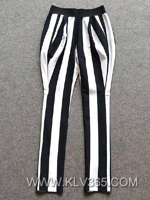 Women Pants Fashion Striped Long Harem Pants Wholesale 3