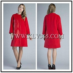 High Quality Women Clothing Fashion Winter Wool  Long Coat