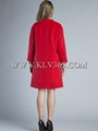High Quality Women Clothing Fashion Winter Red  Wool  Long Plus size Coat