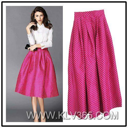 Latest Skirt Design Women Fashion Long Maxi Skirt