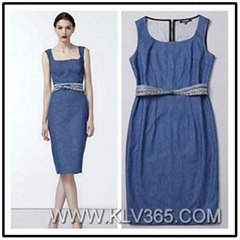 Designer Women Fashion Stylish Jeans Dress Vest Dress Wholesale