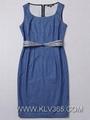 Designer Women Fashion Stylish Jeans Dress Vest Dress Wholesale