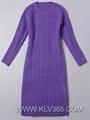 Designer Clothing China Wholesale Women Wool Long Winter Dress