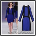 Latest Fashion Women Colorblock Long