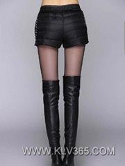 Designer Women Fashion Winter Warm Feather Down Short Pants Wholesale